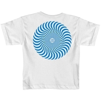 Spitfire Youth Tee Classic Swirl White/Royal Blue image