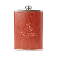 Brixton Main Label Flask Brown image