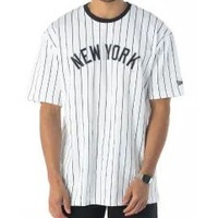 New Era Tee New York Yankees White/Navy Oversized image