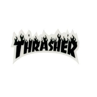 Thrasher Sticker Flame Logo Small 3 inch (Black Letters) image