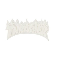 Thrasher Sticker Flame Logo Small 3 inch (White Letters) image