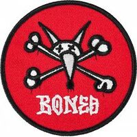 Powell Peralta Patch Vato Rat Red 2.5 Inches Wide image