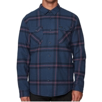 RVCA Flannel Yield Navy image