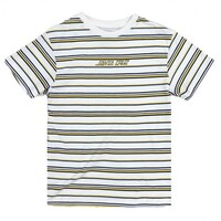 Santa Cruz Youth Tee Stripe White image