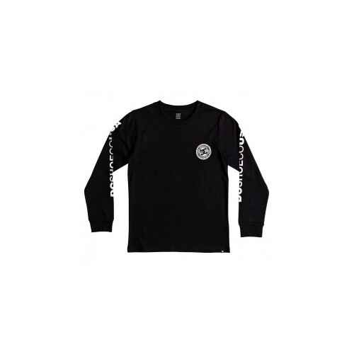 DC Youth Tee Circle Star L/S Black [Size: Youth 10/Small]